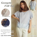 [GeorgetteFrill Top] GRACE CONTINENTAL