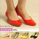 Cocu pumps COCUE shoes shoes casual low heel pumps senamel ladies mail order 2015 SS P27Mar15