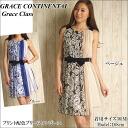 Grace continental dress grace class GRACE CONTINENTAL sleeveless Grace Class floral floral pleated Ribbon belt women's store 2015 SS
