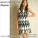 Grace continental one-piece diagram GRACE CONTINENTAL Diagram wedding party parties formal occasion Sleeveless Women's clothing dresses 2015 SS