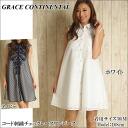 Grace continental one piece GRACE CONTINENTAL sleeveless check pattern race shirt dress A line flare women's store 2015 SS