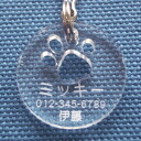 Dogs and cats get lost tags No.27 clear charm acrylic? q non-silhouette?