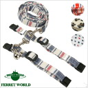 LIP3015 3 harness lead set ferret / drum circle / lead / Hanel lead / Bell color