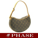 Louis Vuitton M51510 Monogram croissants PM shoulder bag / 14942 fs3gm