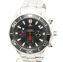 Omega 2569.50 Seamaster Professional 300 m America's Cup racing chronograph SS Black Edition mens automatic winding and 32,500 OMEGA