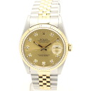 Rolex 16233 G Datejust diamond 10 p champagne gold men's automatic self-winding / 32519 ROLEX DATEJUST