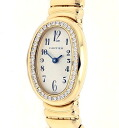 Cartier YG solid mini Venu Earl DIA bezel ladies quartz / 32521 Cartier baignoire