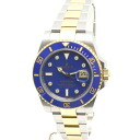 32533 ROLEX SUBMARINER / Rolex 116613 LB blue submarinadeite diamond 8 p YGSS Combi random number mens automatic winding
