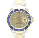 SUB-MARINER 32683 ROLEX / Rolex 16613 SG blue submarinadeite Sapphire diamond YGSS Combi champagne character Edition mens automatic winding