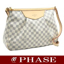 Is Louis Vuitton ☆-free N41112 silaCoosa MM ダミエ アズール; is about to lick it; shoulder bag /18657