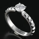 Boucheron 750 WG point Diamon ring diamonds 0.63ct(F.VS1... VeryGood ) J004752001 11 / 99614