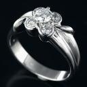 Van Cleef & Arpels 18 KTWG place defines ring Diamond 5 stone No. 9.5 / 99626