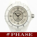 CHANEL( CHANEL) J12 38mm H2423 white ceramic 8P diamond shell self-winding watch men /30992 fs3gm