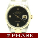 16203 three lines of ROLEX( Rolex) date just YGSS combination black breath diamond 2P men self-winding watch /30998