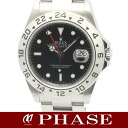 2 16570 ROLEX( Rolex) Explorer SS black men self-winding watch /31074