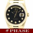ROLEX (Rolex) day-Date Watch 18238 G 750YG solid Onyx diamond 10 p mens automatic winding / 31105 fs3gm