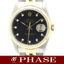 ROLEX( Rolex) date just 16233G diamond 10P black men self-winding watch /31108 fs3gm