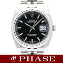 116234 Rolex date just SSWG black Barmen self-winding watch roulette /31680fs3gm