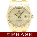 Rolex 118,238A D date YG innocent champagne gold diamond 10P men self-winding watch /31701fs3gm