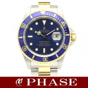 16613 Rolex blue sub marina date YGSS combination men W turn self-winding watch /31710fs3gm