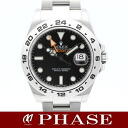 216570 Rolex ☆ new model Explorer two run homer dam turn SS black men self-winding watch roulette /31712fs3gm