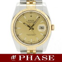 116233 ROLEX Rolex date just YGSS champagne gold men Z turn roulette self-winding watch /31772