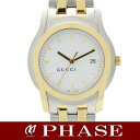 GUCCI gucci 5500XL SSxGP white clockface men quartz /31787