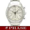 3211.30 OMEGA omega speed master date SS silver clockface men self-winding watch /31805