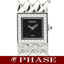 CHANEL H0489 matelasse diamond bezel SS Lady's quartz /31818CHANEL