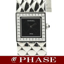 CHANEL H0489 matelasse diamond bezel SS Lady's quartz /31836CHANEL