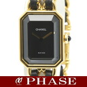 CHANEL H0001 プルミエール large size GPx Boletopsis leucomelas belt Lady's quartz /31859CHANEL