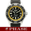 42 Brightman ring A17364 supermarket ocean SSx rubber yellow men self-winding watch /31936BREITLING
