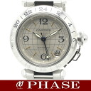 Cartier Pasha C Meridian SS silver GMT unisex automatic winding / 32003 Cartier mens