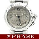 Cartier Pasha C Meridian SS silver GMT unisex automatic / 32003 Cartier mens