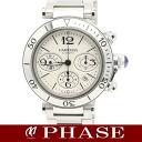 Cartier W31089M7 pasha sea timer chronograph SS silver clockface men self-winding watch /32326 Cartier