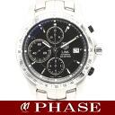 Tag Heuer CJF2110 link chronograph tachymeter black mens 200 m waterproof automatic winding / Heuer 32328