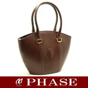 Cartier handbag leather Bordeaux Cartier/51695