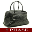 CHANEL ☆-free A38430 Paris Biarritz Boston bag black CHANEL/51699