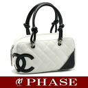 Chanel A29792 Cambon line mini bowling bag CHANEL/50617 fs3gm