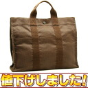 HERMES yell line tote bag MM brown HERMES/50680 fs3gm