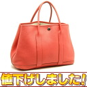 HERMES garden party leather red system N carved seal HERMES/50695