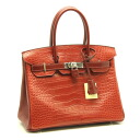 Hermes ☆ new Birkin 30 alligator triyoncremans R mark Rouge ash HERMES/53121