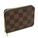 Louis Vuitton ☆ Unused N63070 Damier Zippy Coin Purse/46761