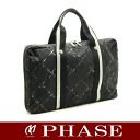 CHANEL old travel line business bag black CHANEL/51377