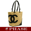CHANEL A25167 Cambon line medium tote bag beige CHANEL/51458