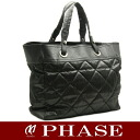 CHANEL A34209 Paris Biarritz tote bag black CHANEL/51465
