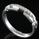 K18WG diamond 0.10 ct ring No. 10 / 62557