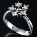 K18WG diamond 0.33 ct ring 12 / 62570