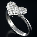 K18WG diamond 0.50 ct heart design ring No. 11.5 and 62572