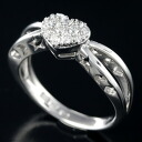 K18WG diamond 0.20 ct heart design ring 12 / 62578